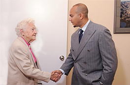 Mayor Hazel McCallion & Justin Ramlochan